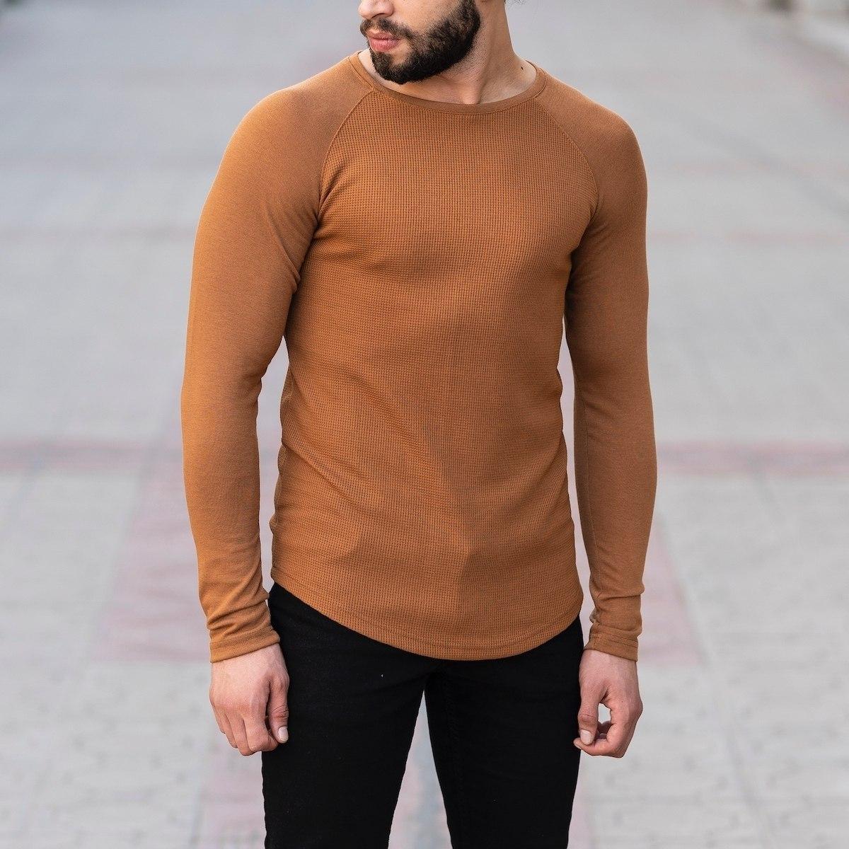 Dotwork Sweatshirt In Brown Mv Premium Brand - 1