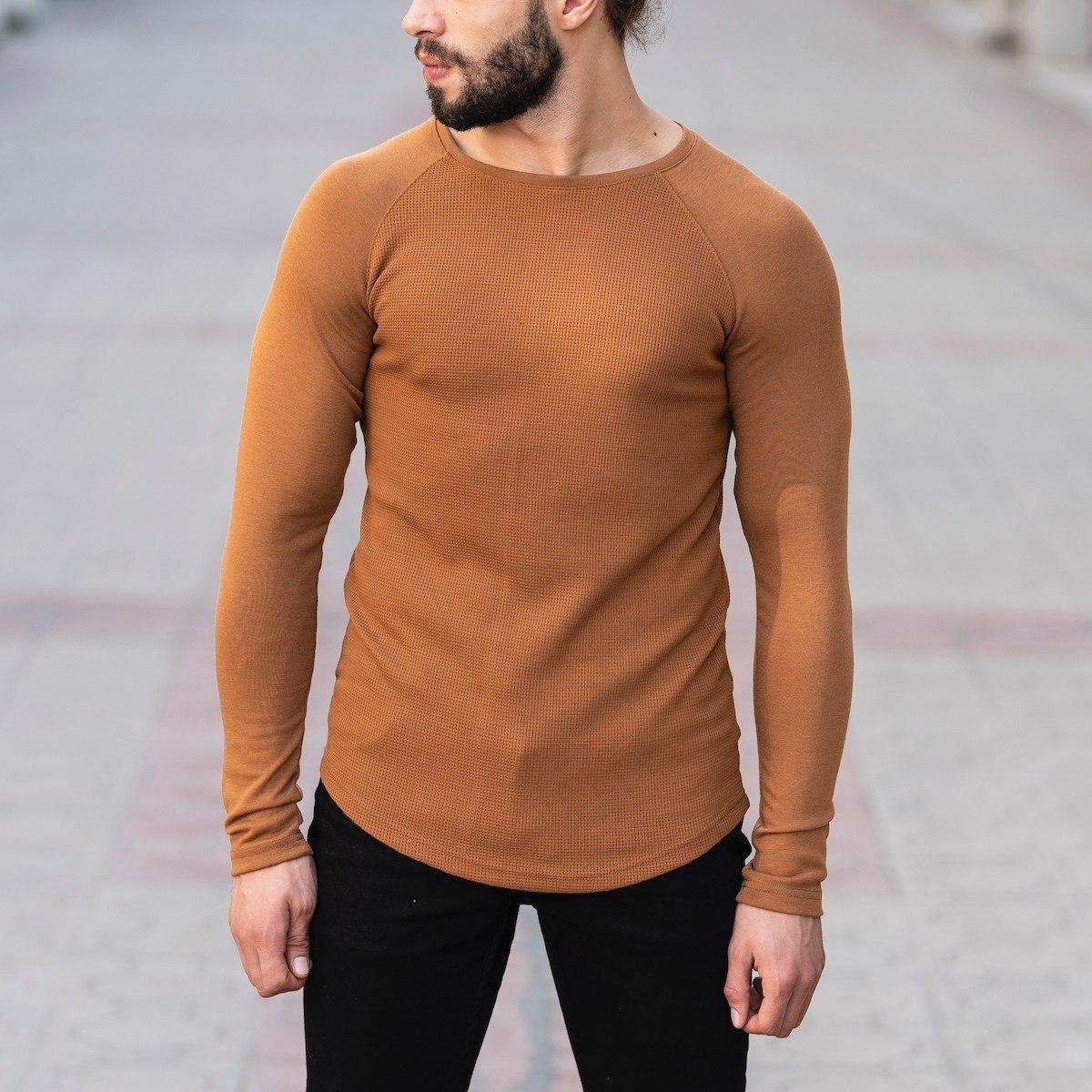 Dotwork Sweatshirt In Brown Mv Premium Brand - 2