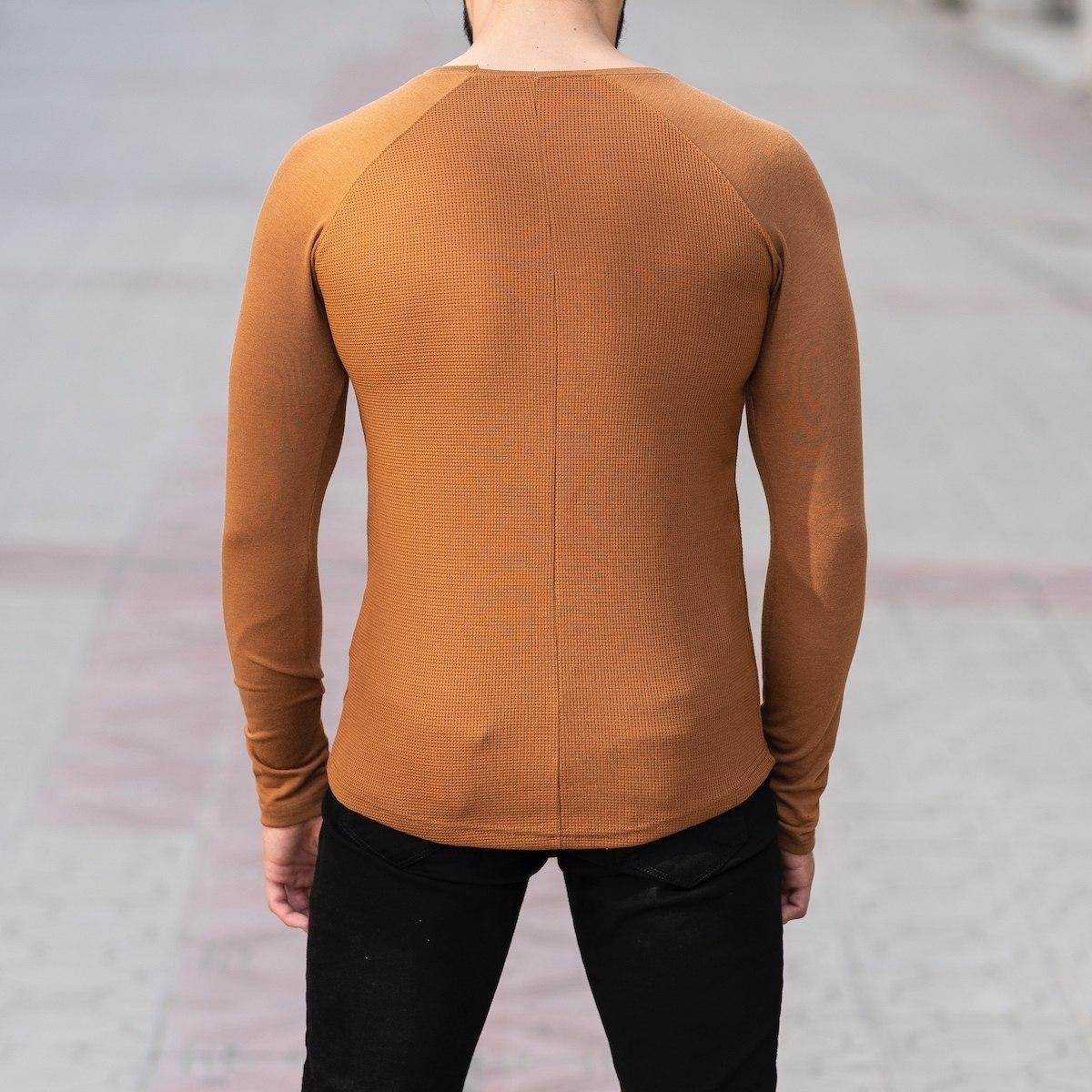 Dotwork Sweatshirt In Brown Mv Premium Brand - 4