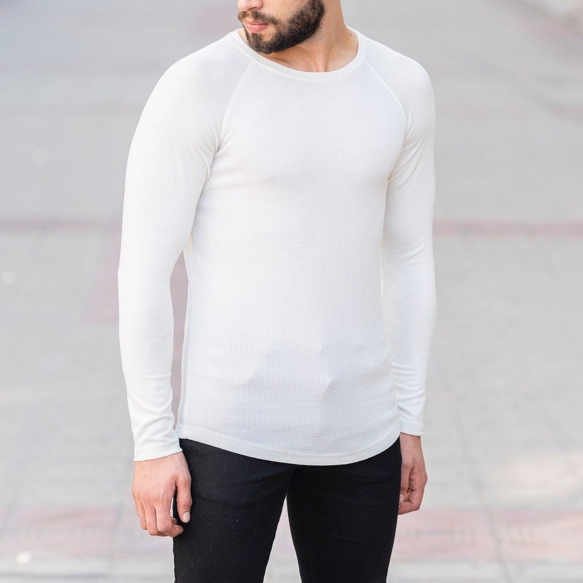 Dotwork Sweatshirt In White