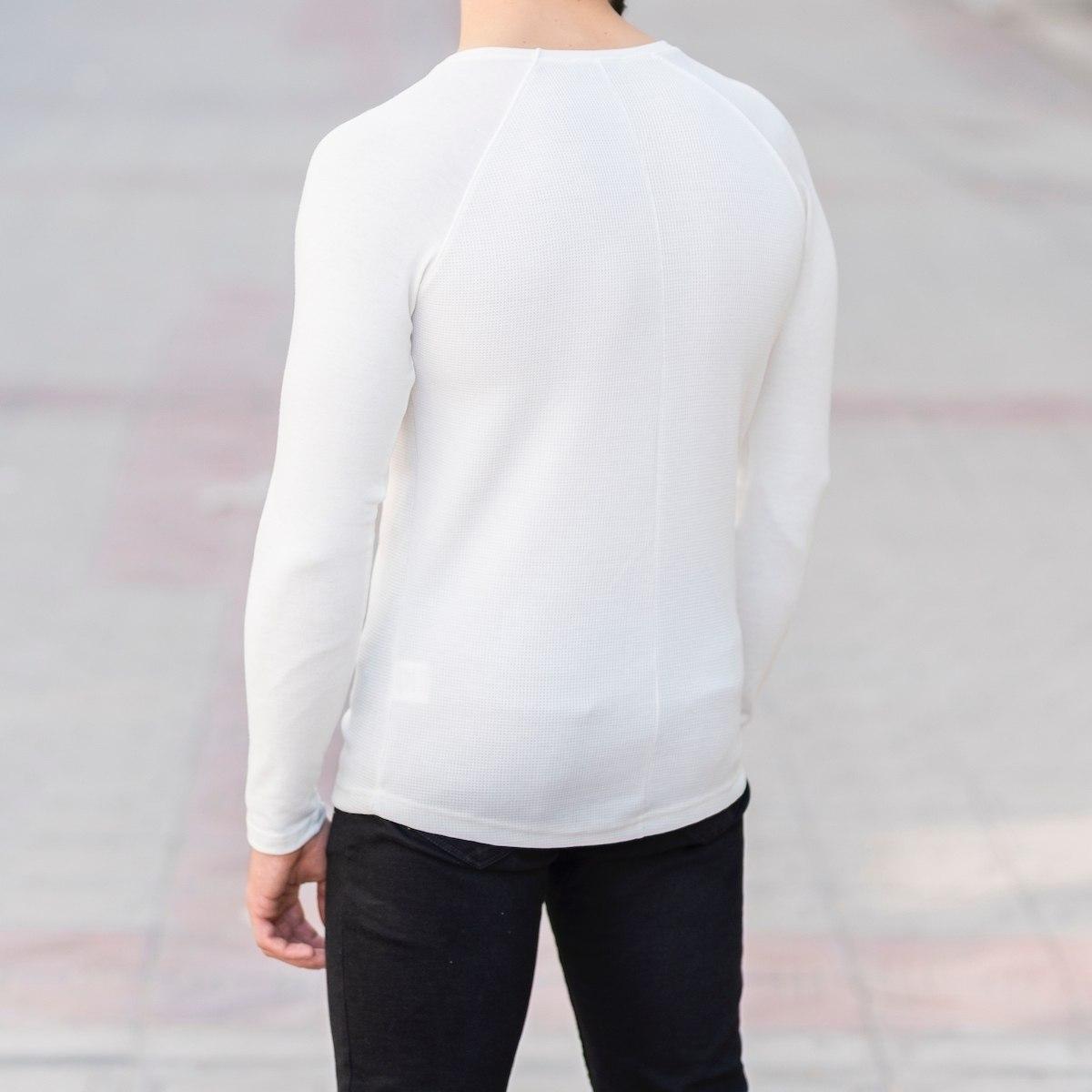Dotwork Sweatshirt In White Mv Premium Brand - 3