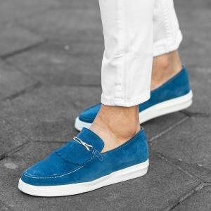 Loafers In Blue Mv Premium Brand - 2