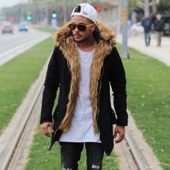 MV Parker-Style Jacket with Furry Trim in Black Mv Premium Brand - 1