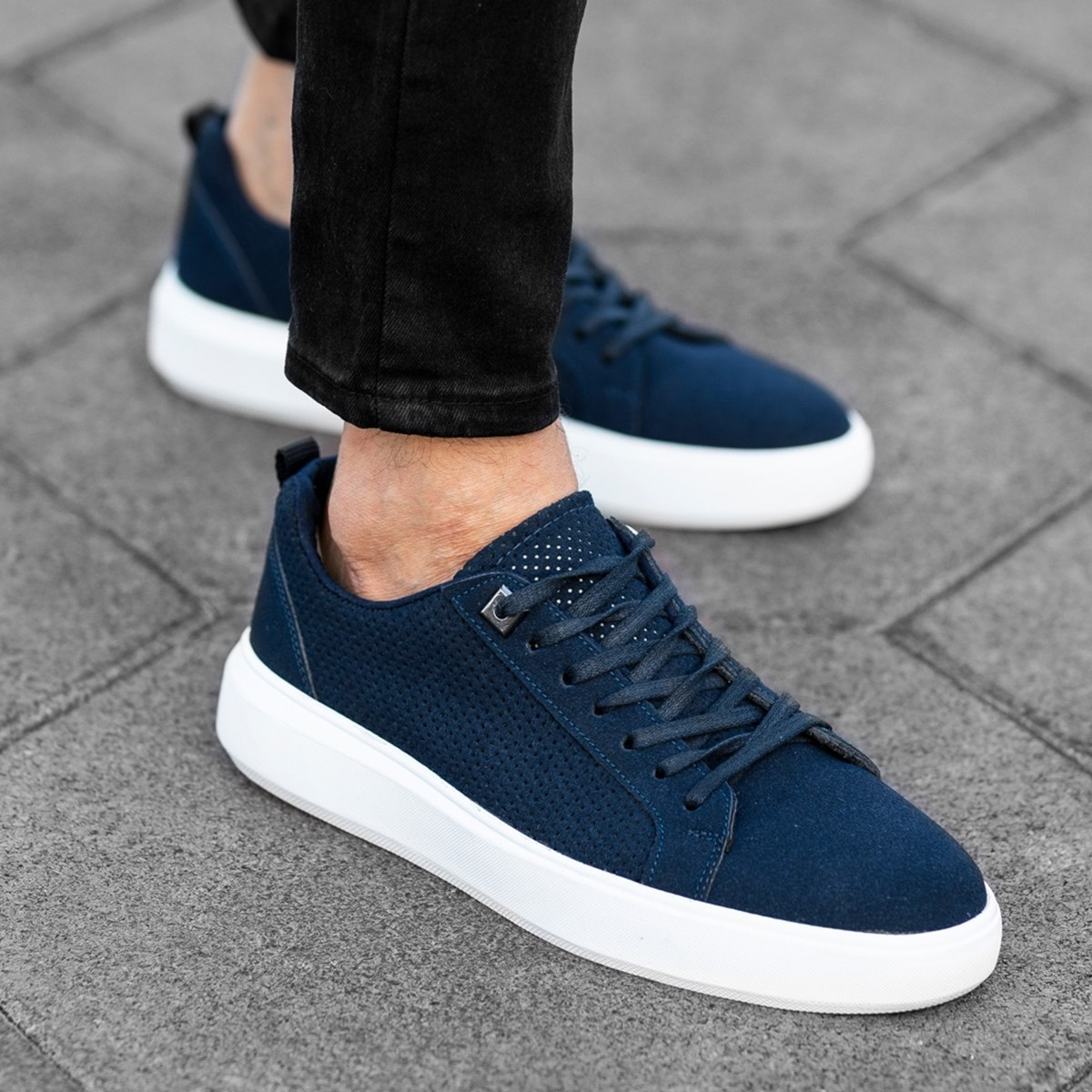 Premium Suede Sneakers in Blue Mv Premium Brand - 1