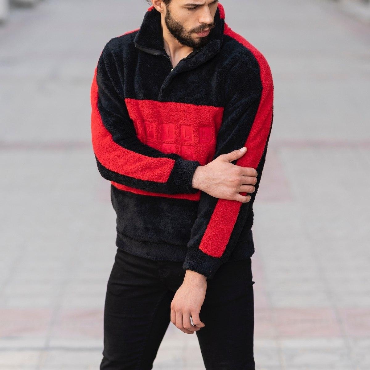Well-Soft SweatShirt in Black&Red Mv Premium Brand - 4