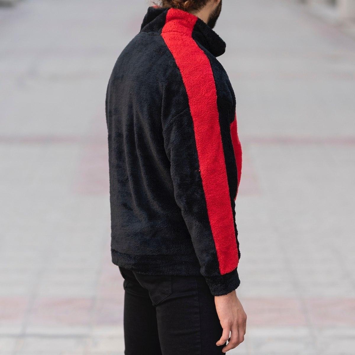 Well-Soft SweatShirt in Black&Red Mv Premium Brand - 5