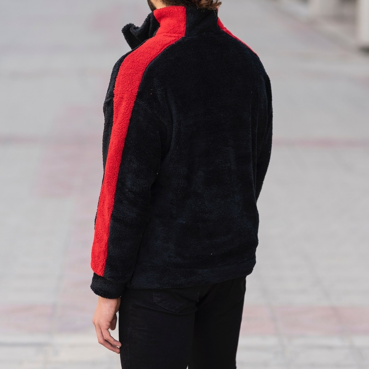 Well-Soft SweatShirt in Black&Red Mv Premium Brand - 6