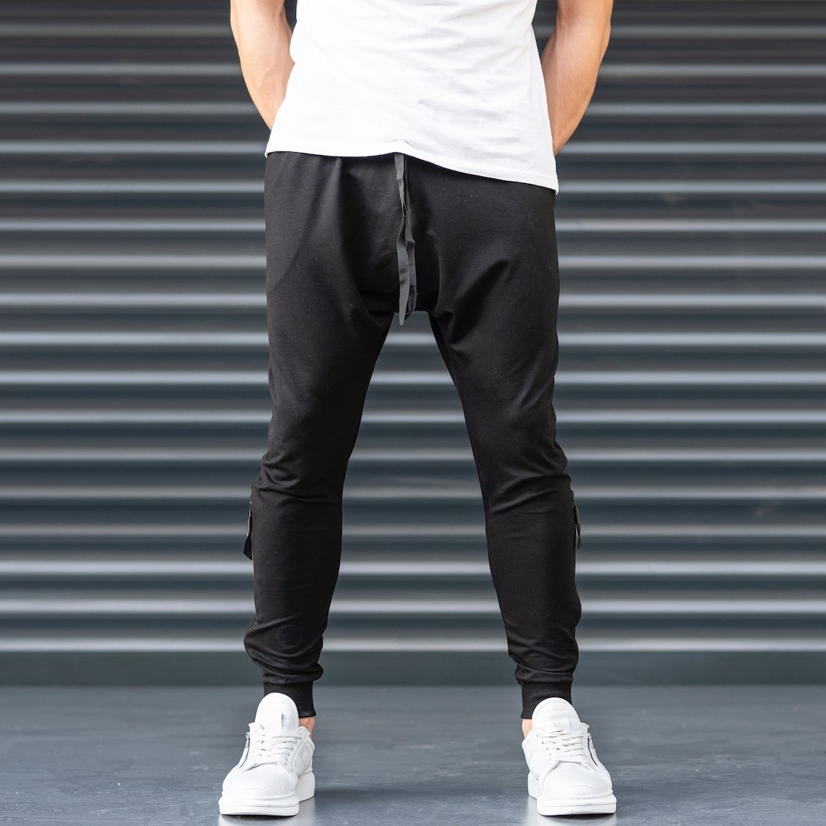 Black Shalvar Trousers with Zip