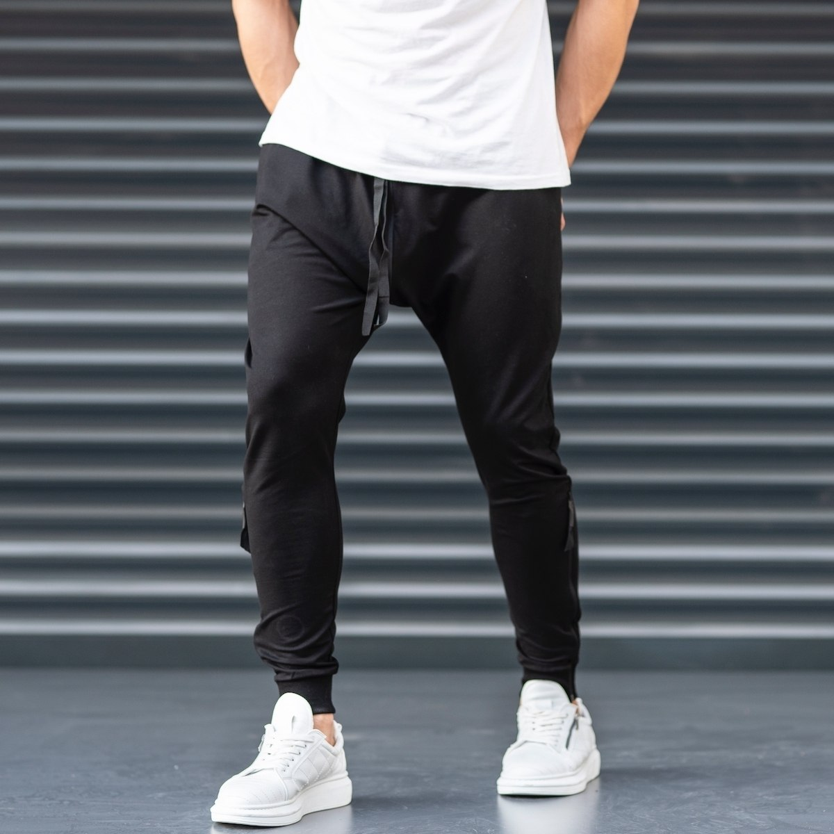 Black Shalvar Trousers with...