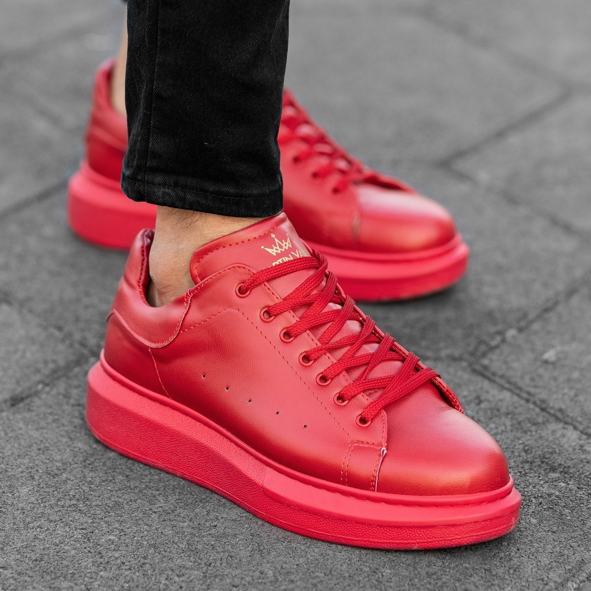 Hype Sole Sneakers In Full Red