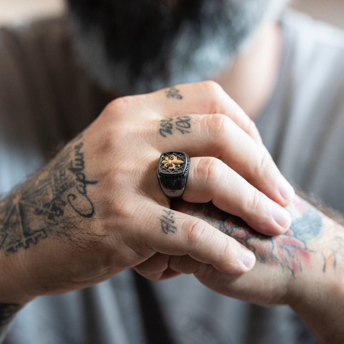 Men's Black Royal Ring