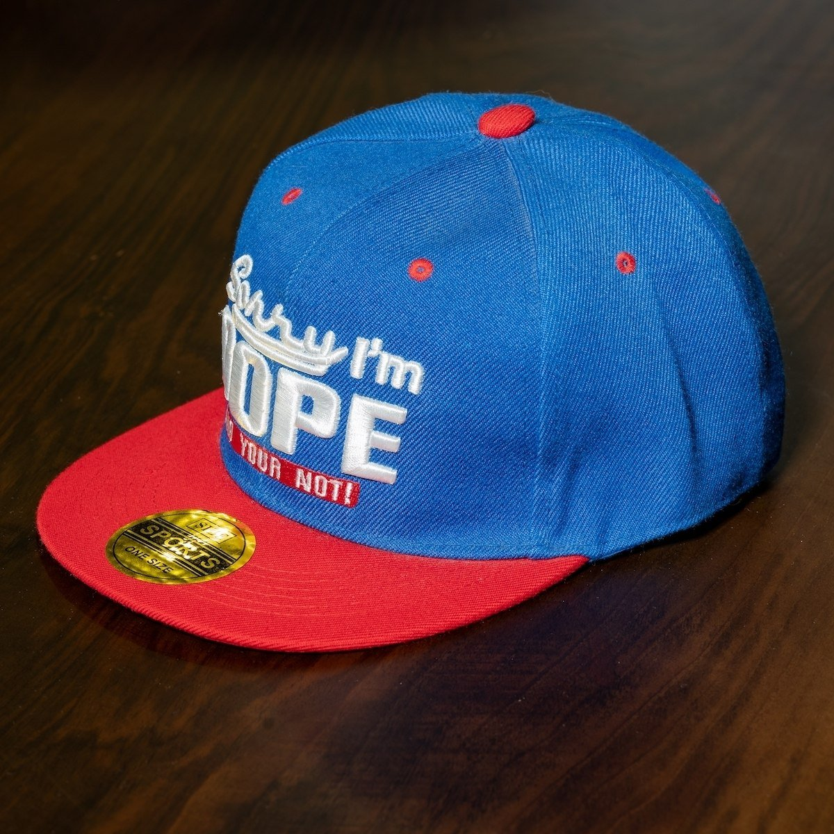 """Dope"" Cap In Blue-Red"