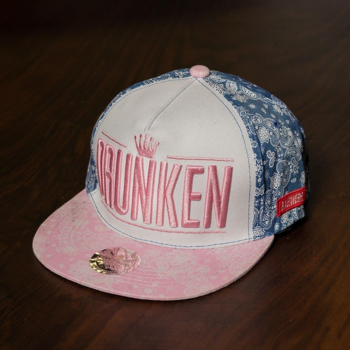 """""""Drunken"""" Cap In Pink-White"""