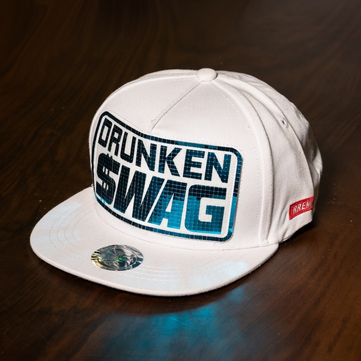 """Drunken Swag"" Cap In White"