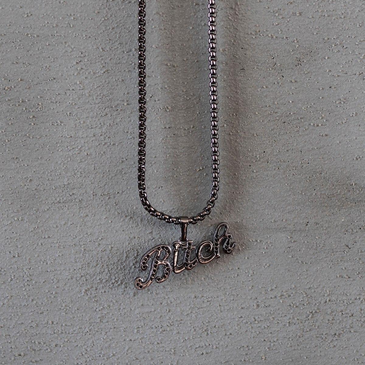 Men's Bitch Necklace Black
