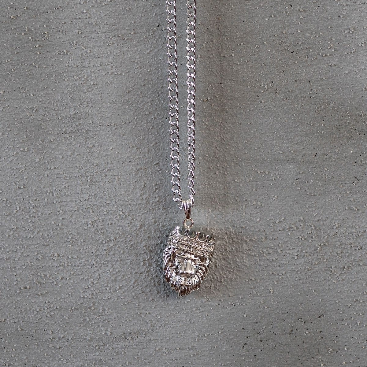 Men's King Leon Necklace Silver