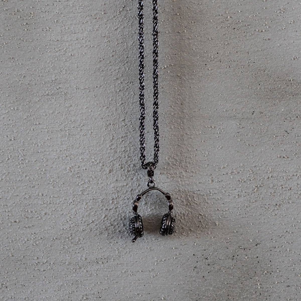 Men's Headphone Necklace Black