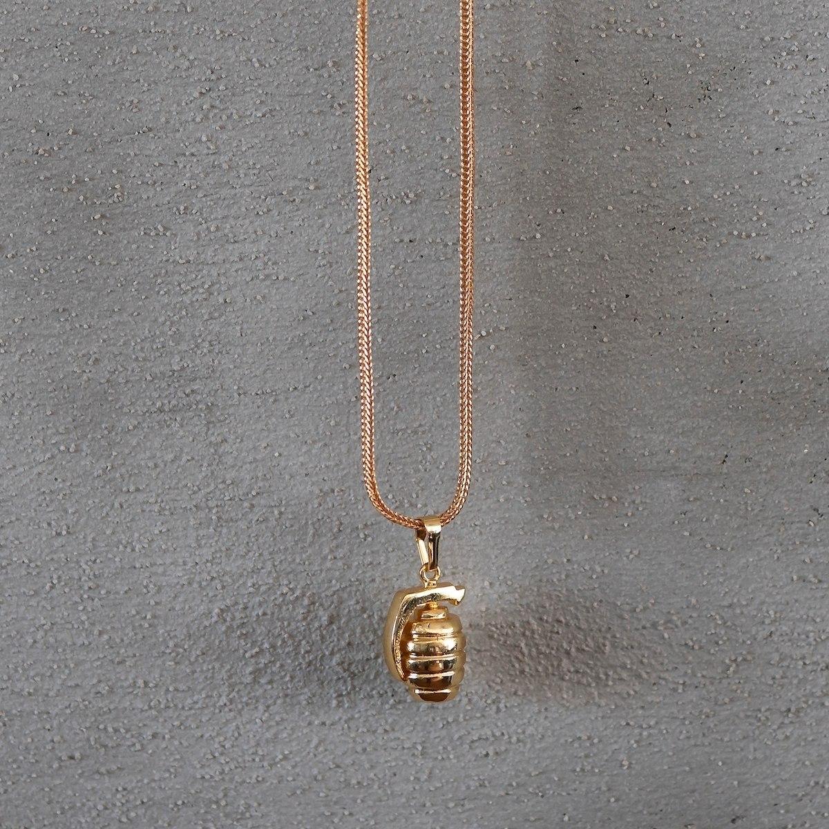 Men's Bomb Necklace Gold