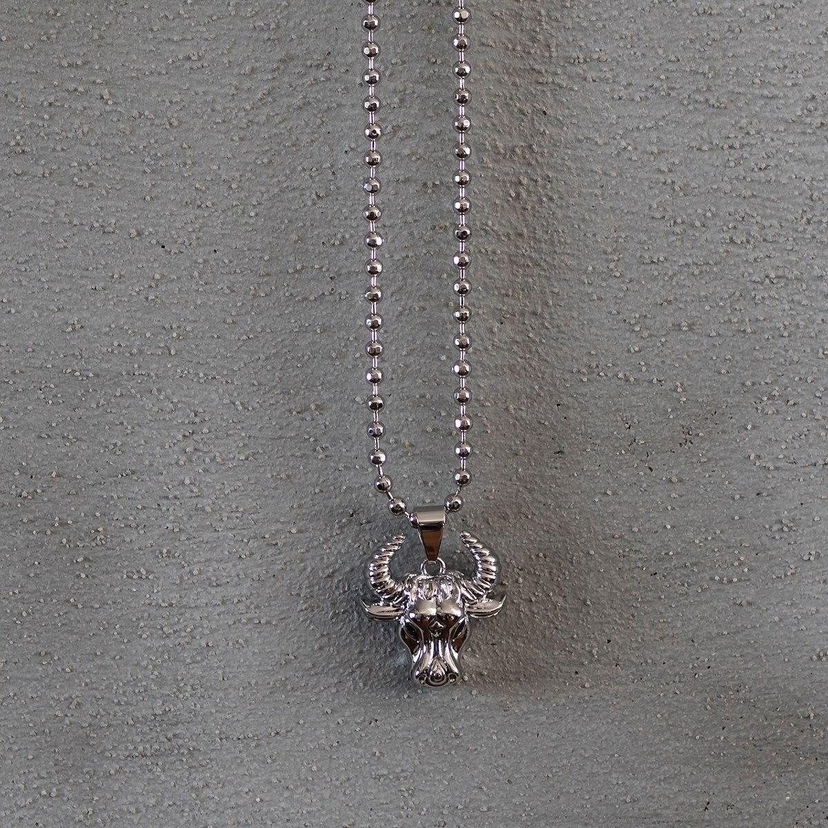 Men's Taurus Necklace Silver