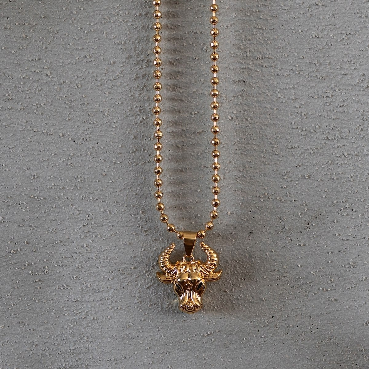 Men's Taurus Necklace Gold