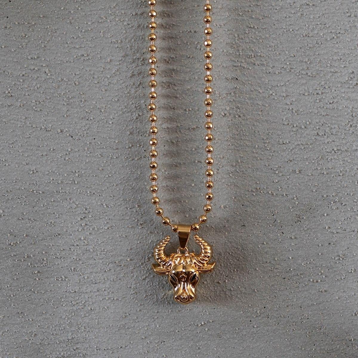 Men's Taurus Necklace Gold