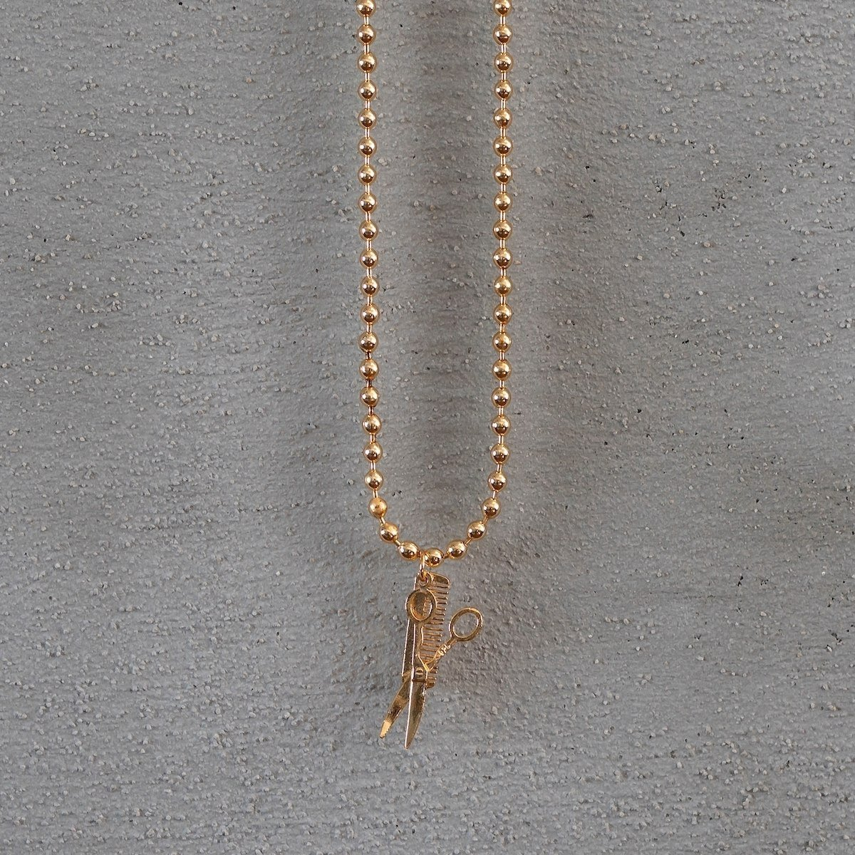 Men's Barber Necklace Gold