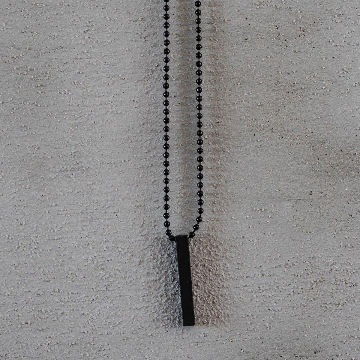 Men's Column Necklace Black