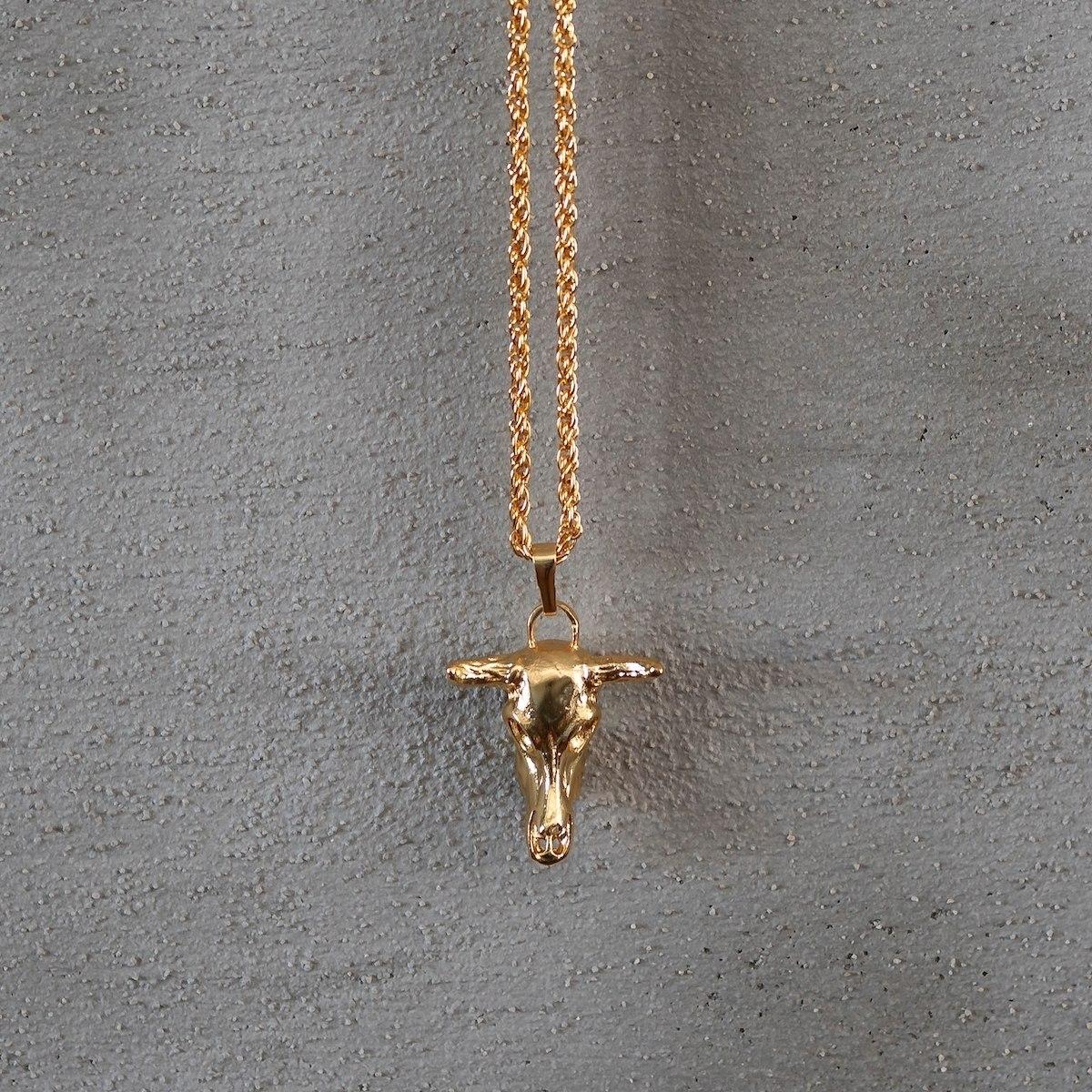 Men's Gold Bull Necklace