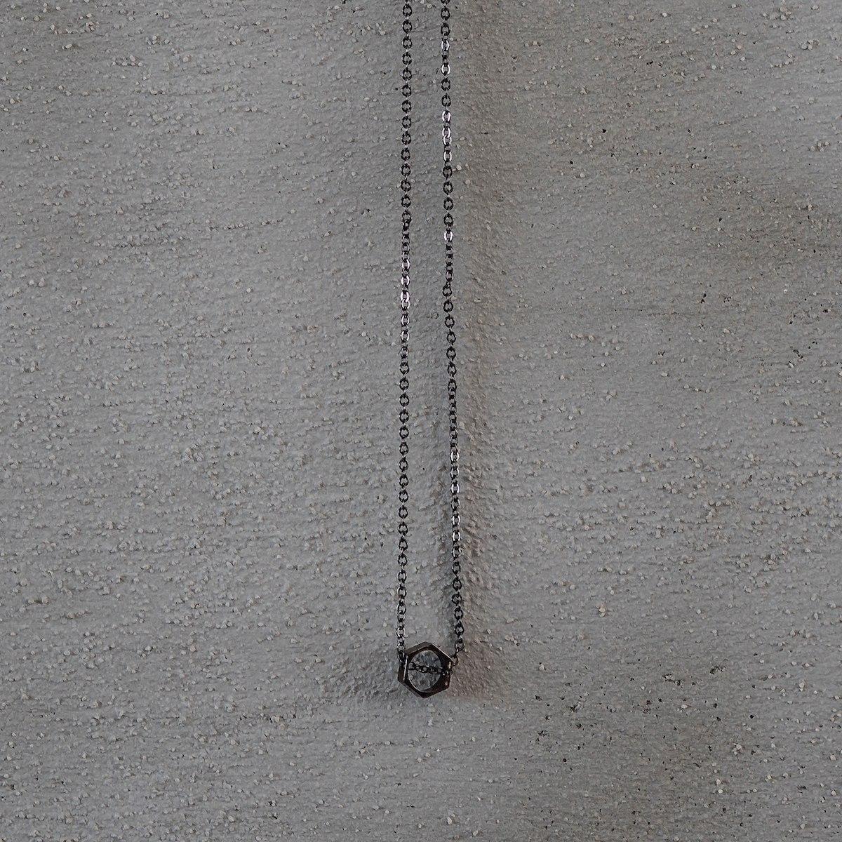 Men's Black Octagon Necklace