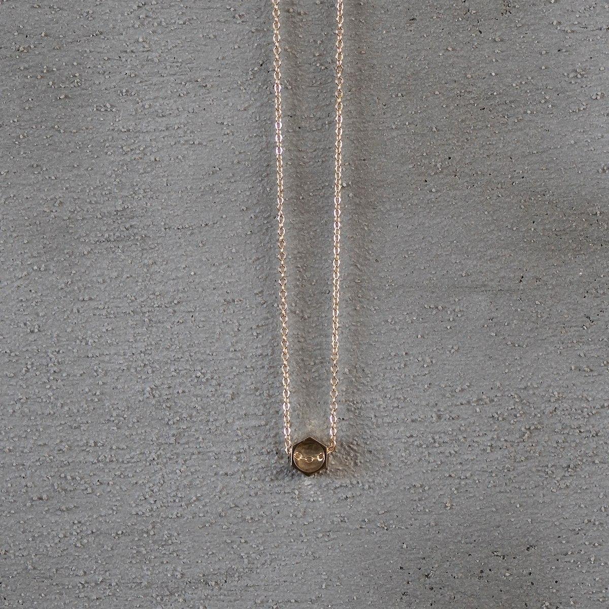 Men's Gold Octagon Necklace