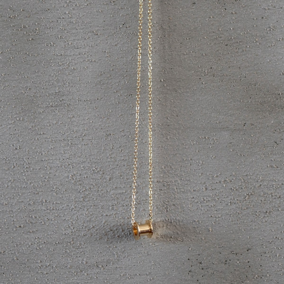 Men's Gold Tunnel Necklace