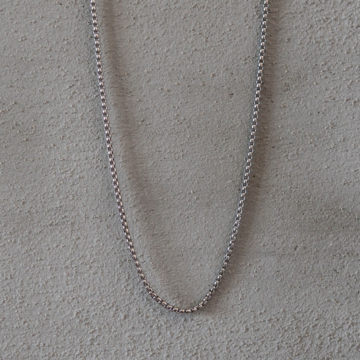 Men's Rounded Silver Chain