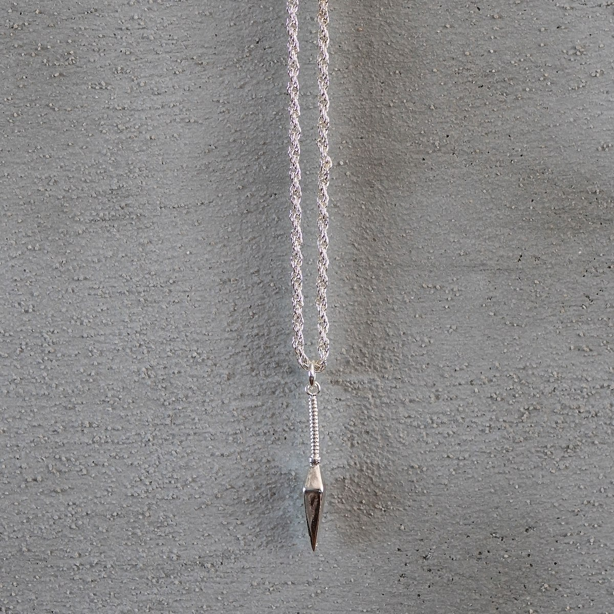 Men's Silver Arrow Necklace
