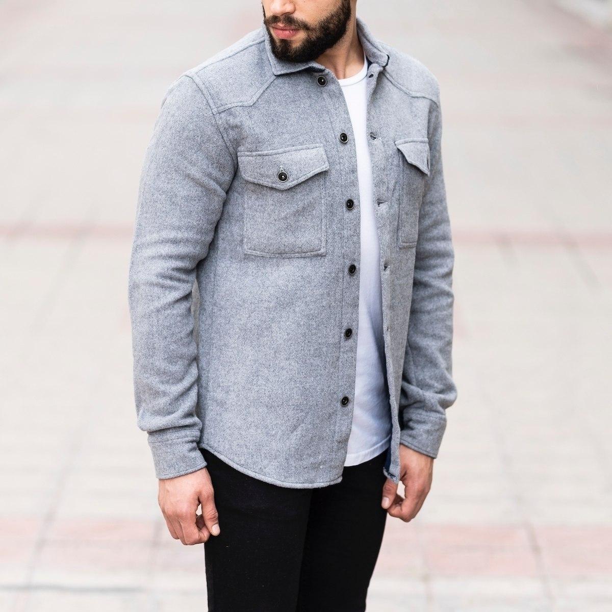 Men's Woolen Jacket-Shirt...