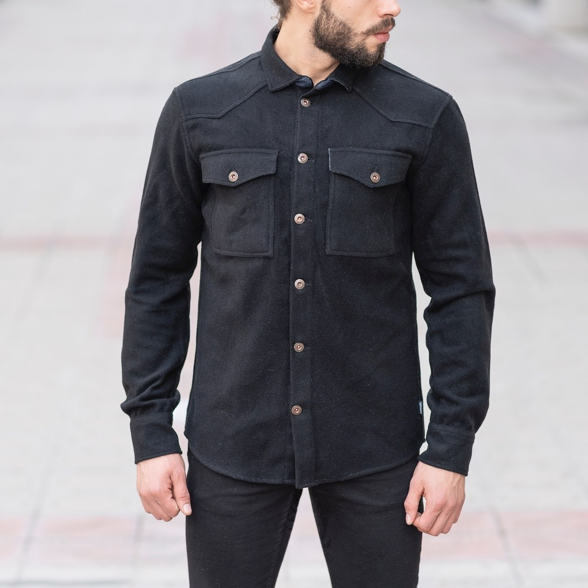 Men's Woolen Jacket-Shirt...