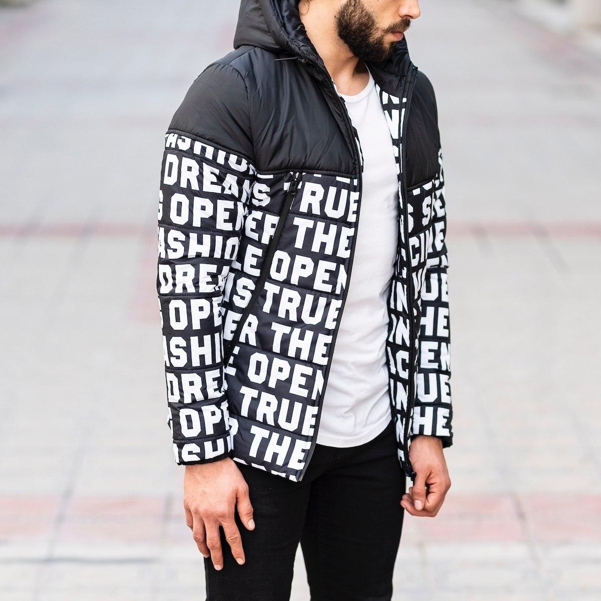 Men's Black Puffer Jacket...