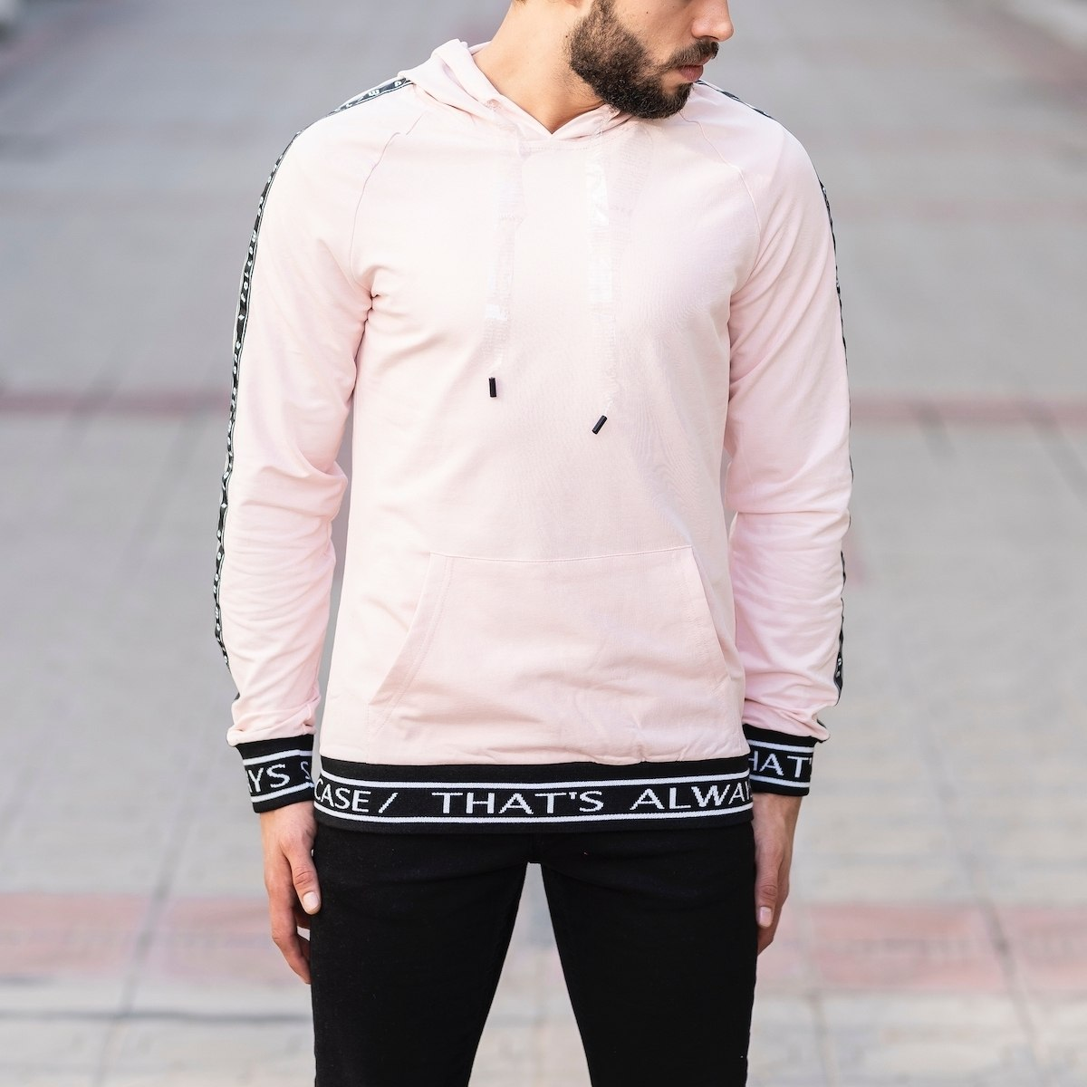 Pink Sweatshirt With Text Details