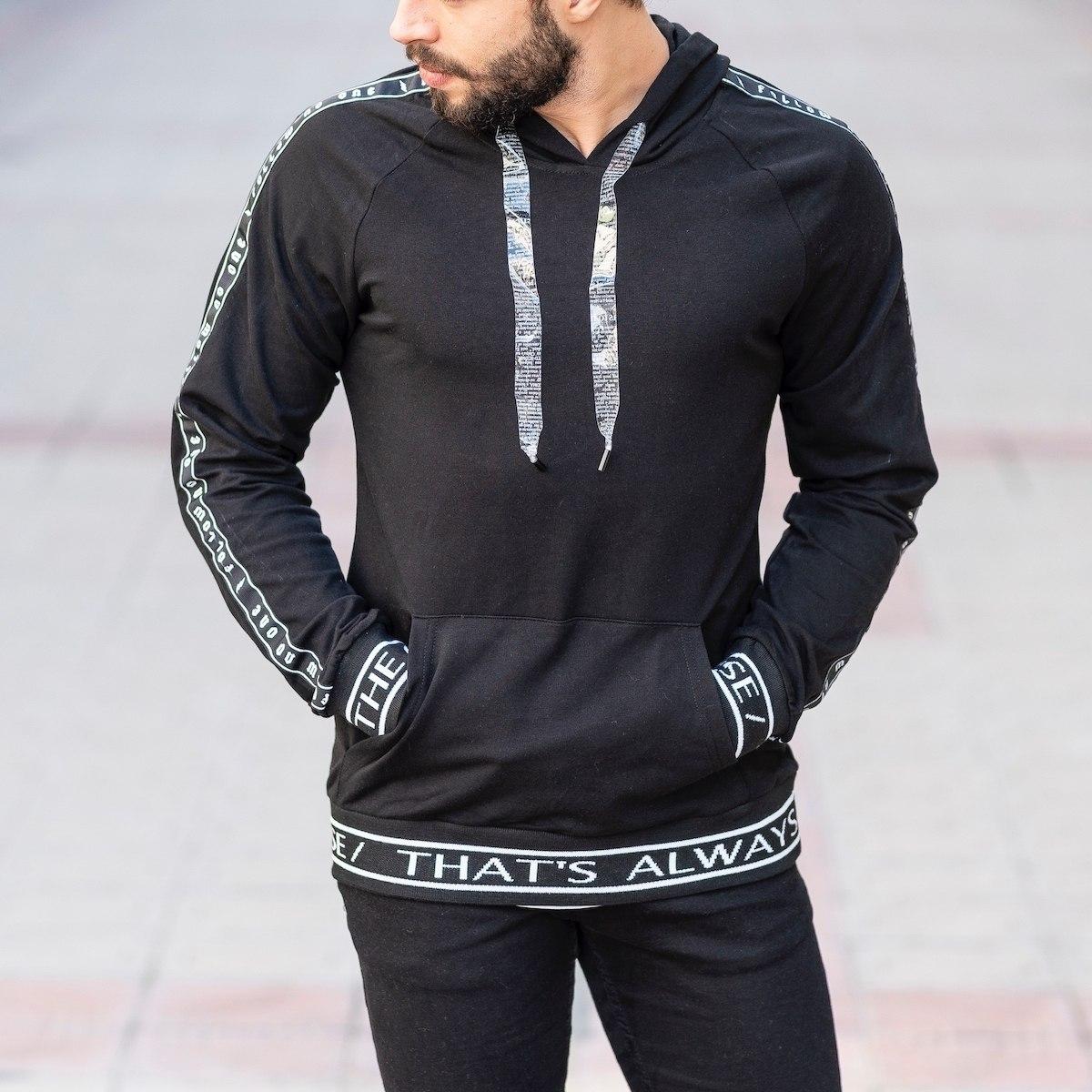Black Sweatshirt With Text...