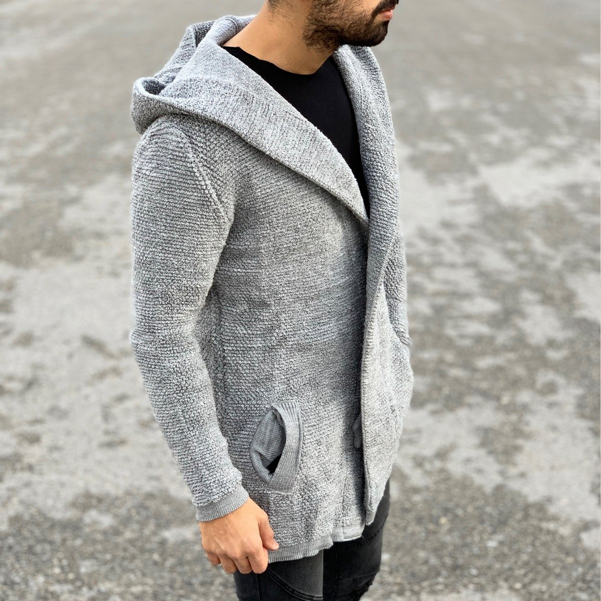 Comfortable Hooded Cardigan...