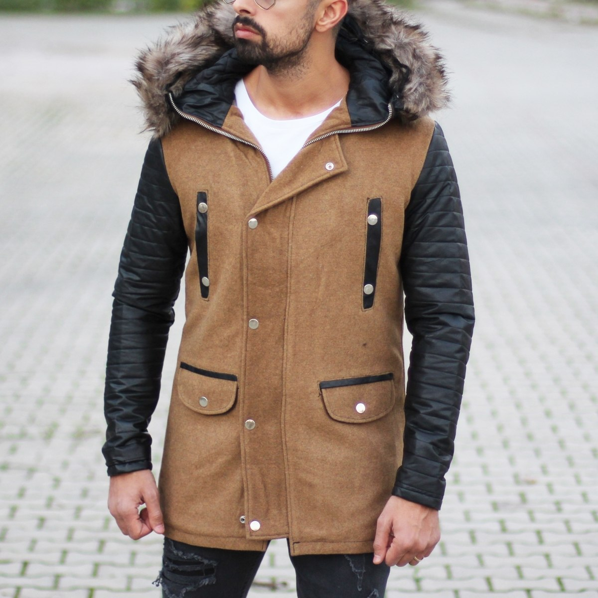 Furry Hooded Winter Coat in...