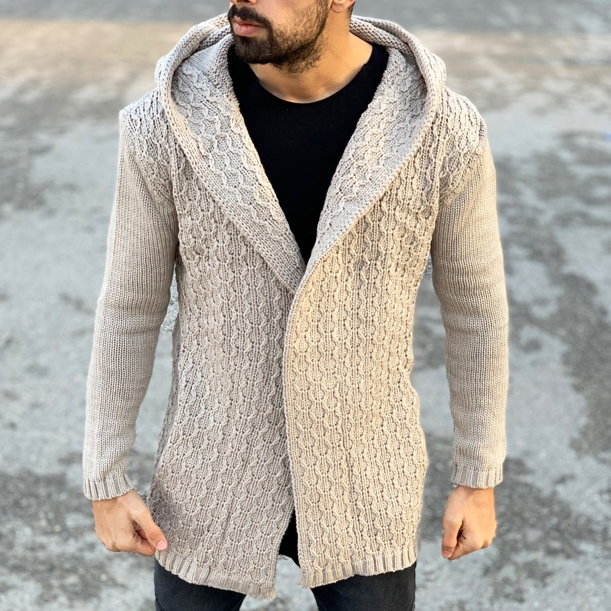 Winter Hooded Cardigan in...