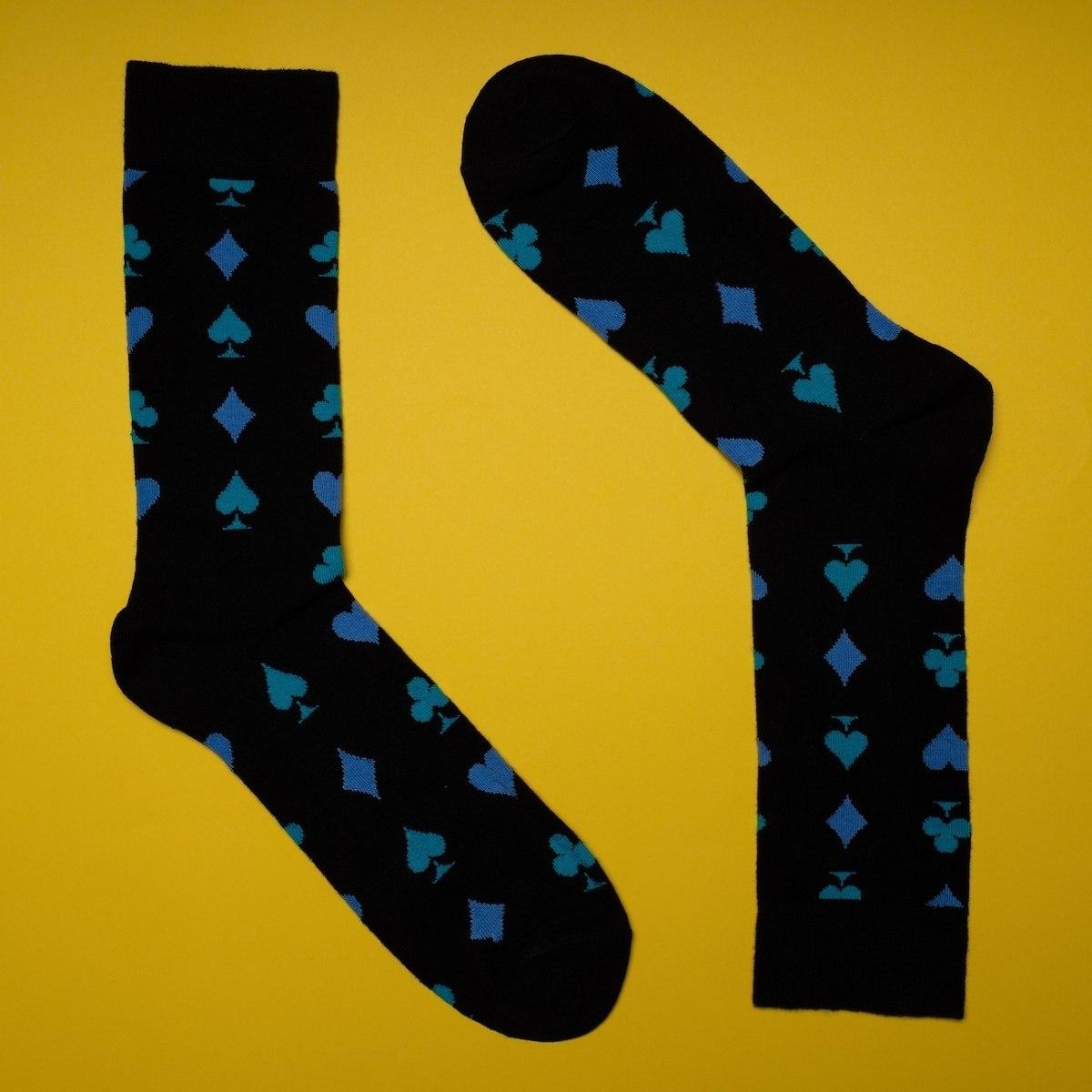 Men's Poker Socks In Black