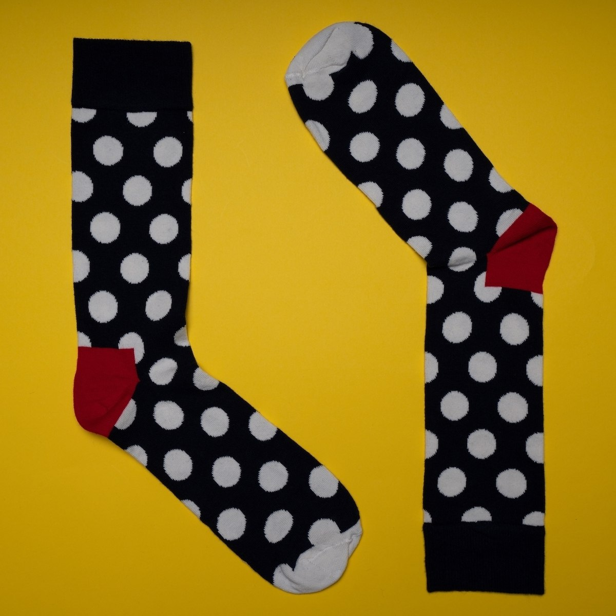 Men's Spotty Socks In Black