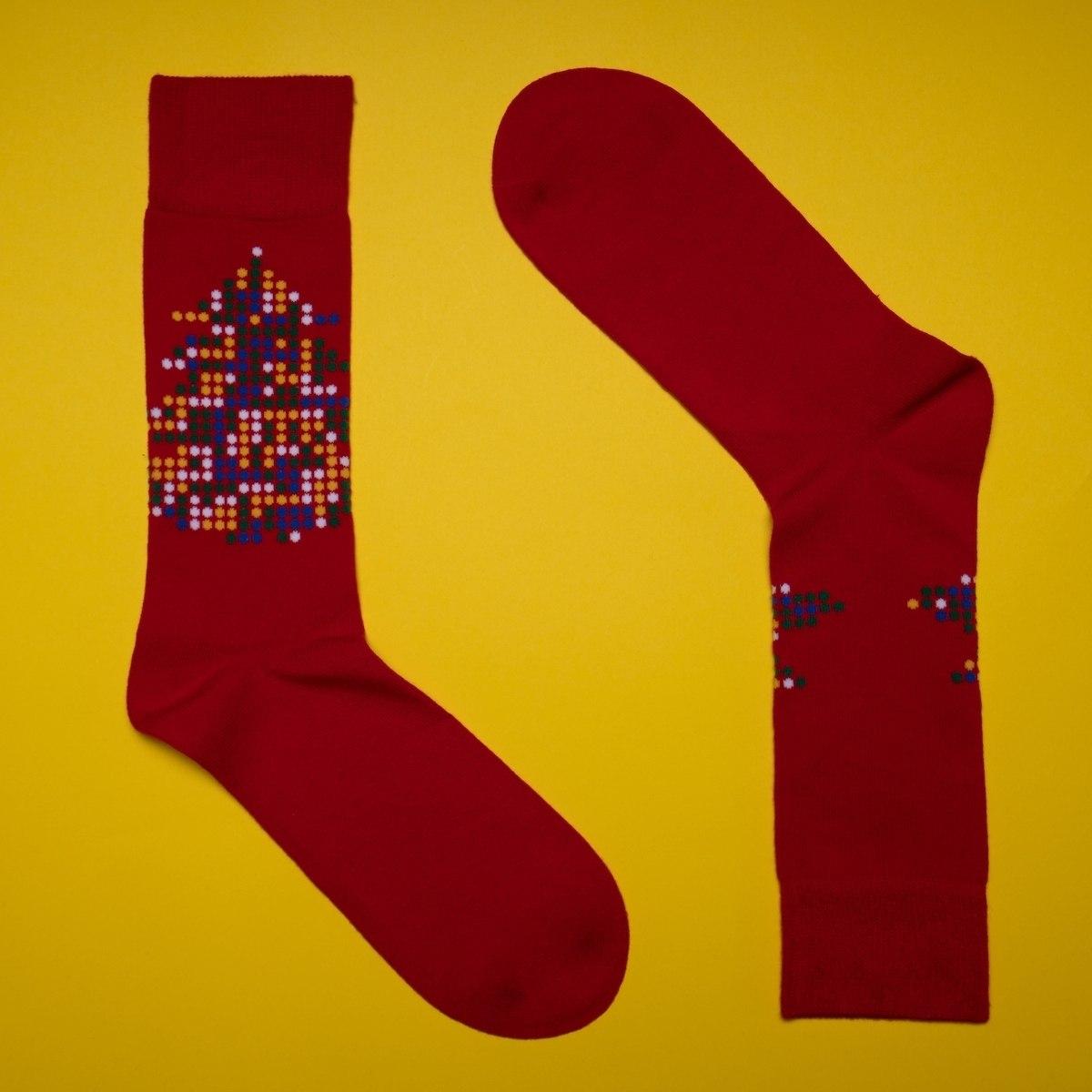 Men's Xmas Socks In Red